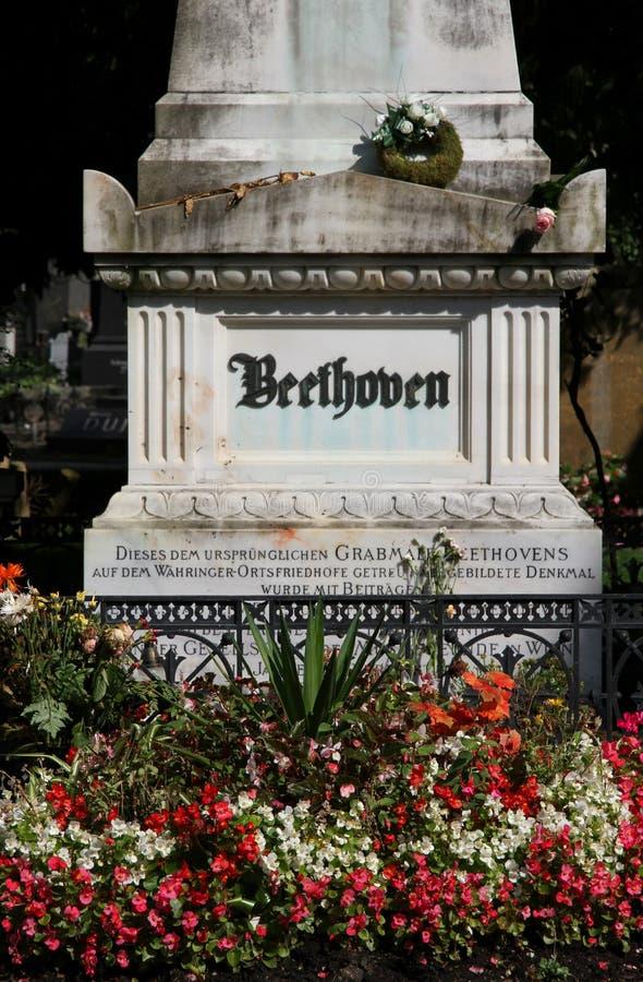 Вена, Австрия - 24-ое августа 2014: Надгробная плита музыканта l стоковая фотография rf