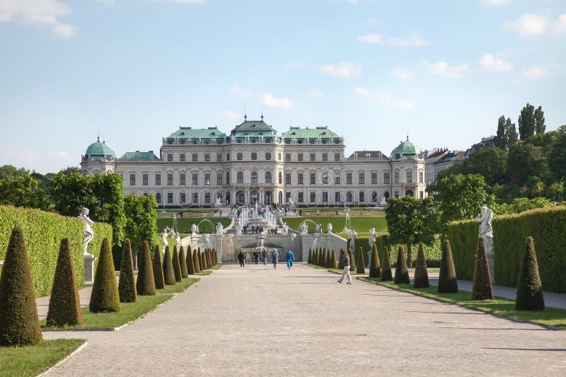 вена Бельведер дворца и парка сложный стоковая фотография rf