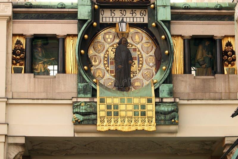 Вена детали часов анкера стоковые изображения