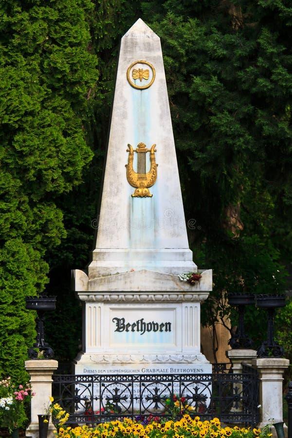 вена кладбища Бетховен центральная тягчайшая стоковое изображение rf