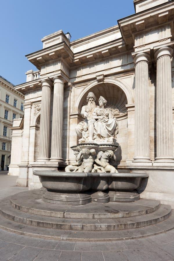 вена фронта фонтана albertina стоковая фотография