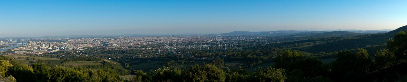 вена danube панорамная стоковое фото