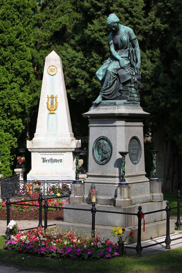 вена mozart Бетховен тягчайшая мемориальная стоковые изображения