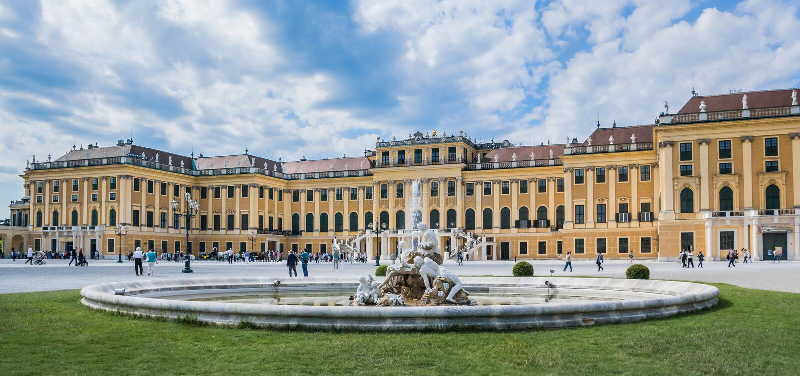 вена schoenbrunn дворца стоковое изображение rf