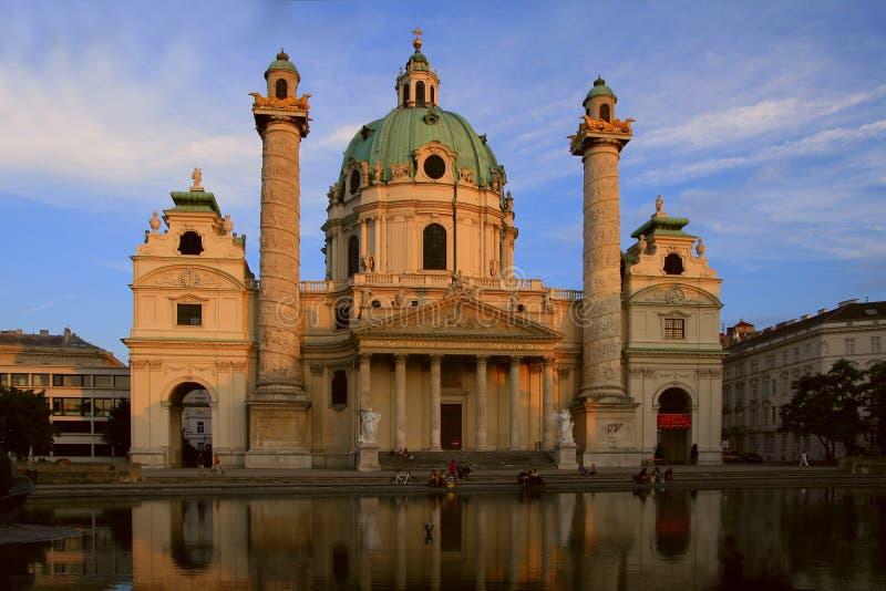 вена st charles собора стоковое фото rf