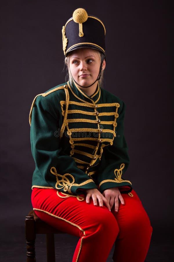 Венгерская женщина hussar стоковое изображение rf