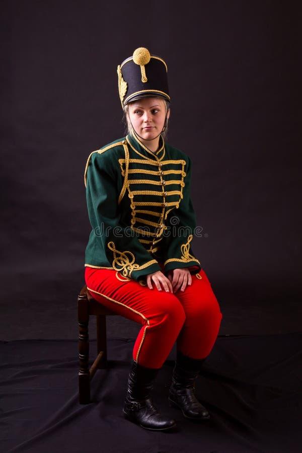 Венгерская женщина hussar стоковое фото
