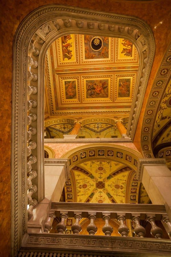 Венгерская опера Будапешт положения стоковая фотография