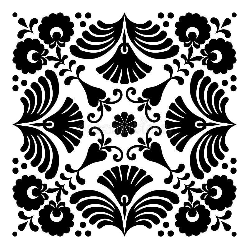 Венгерские мотивы в форме квадрат стоковое изображение