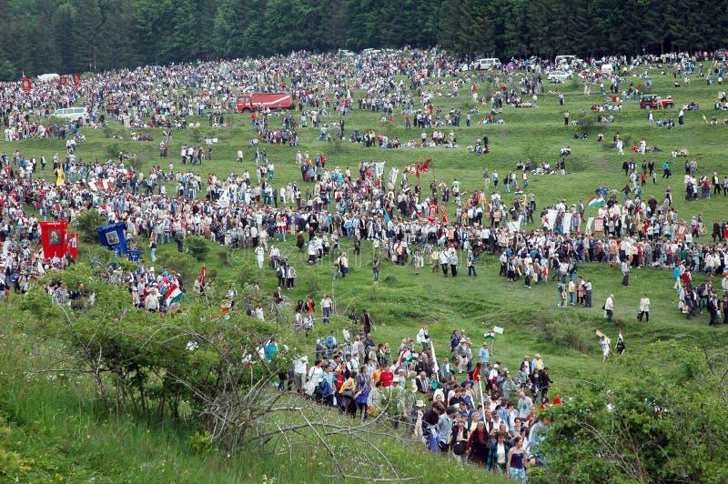 венгерские тысячи пилигримов стоковое изображение