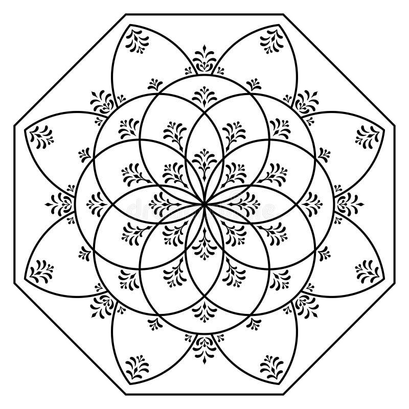 Венгерские элементы восьмиугольника стоковая фотография rf