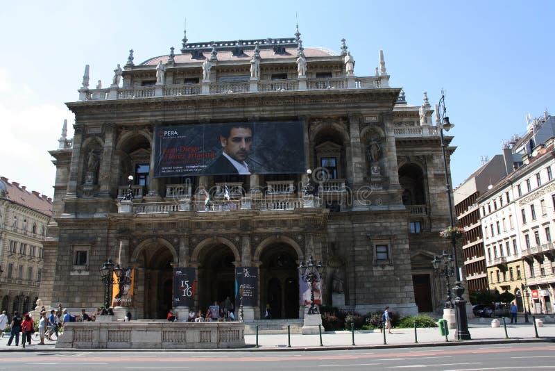 Венгерский оперный театр положения в Будапешт стоковая фотография