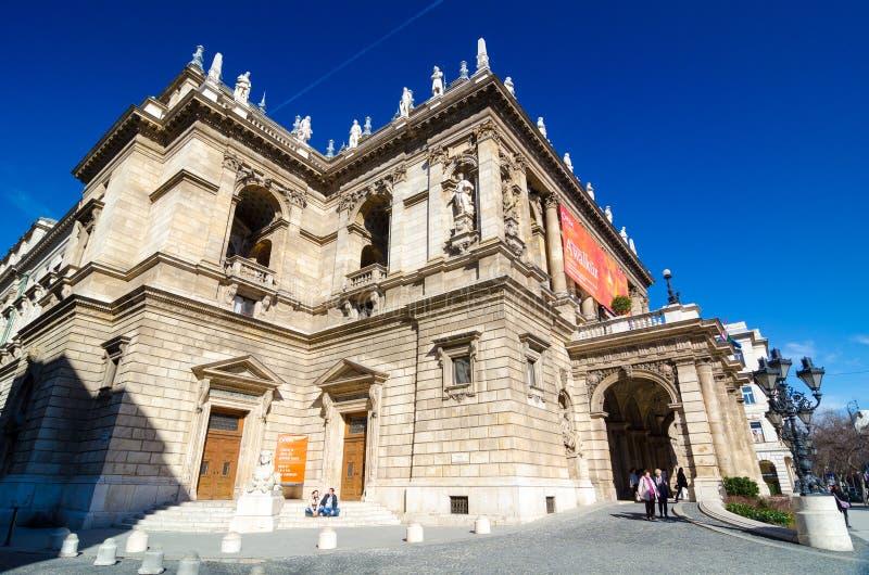 Венгерский оперный театр положения оперный театр нео-ренессанса расположенный в Будапеште стоковая фотография