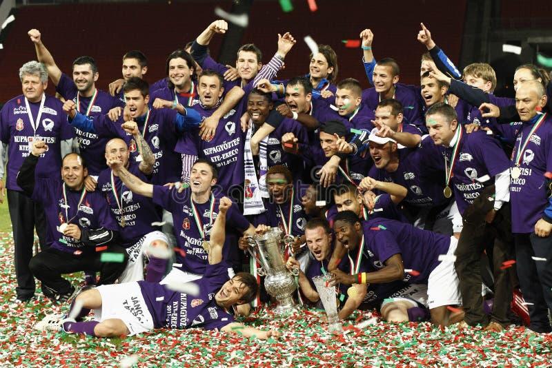 Венгерский финал кубка футбола стоковое изображение rf