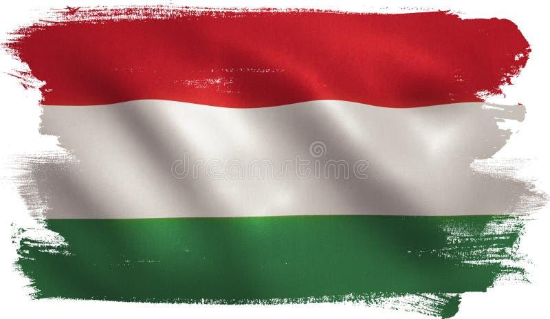 Венгерский флаг иллюстрация вектора