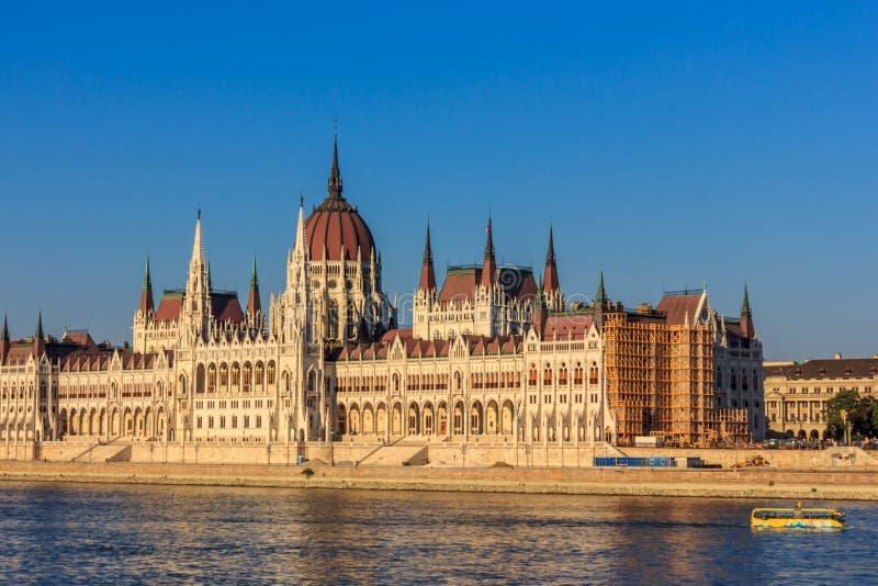 Венгерское здание парламента, Budapes, Европейский союз стоковые фотографии rf