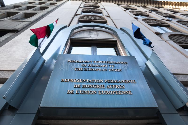 Венгерское посольство в Брюсселе Бельгии стоковое фото rf