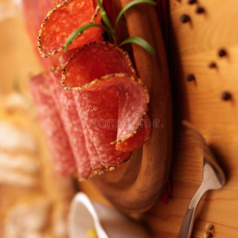 венгерское салями стоковая фотография