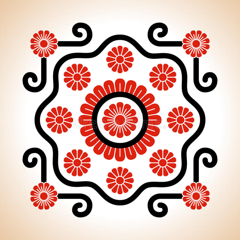 Венгерское украшение поводов вышивки бесплатная иллюстрация