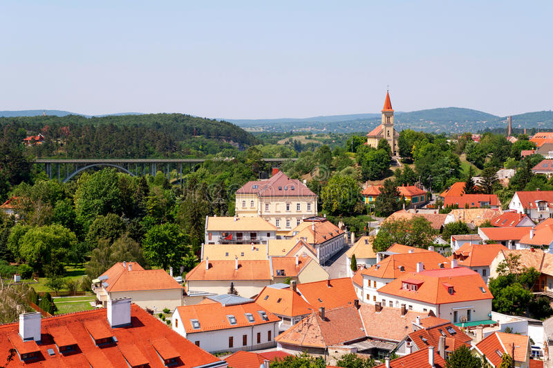 Венгрия к wiev veszprem стоковое изображение rf