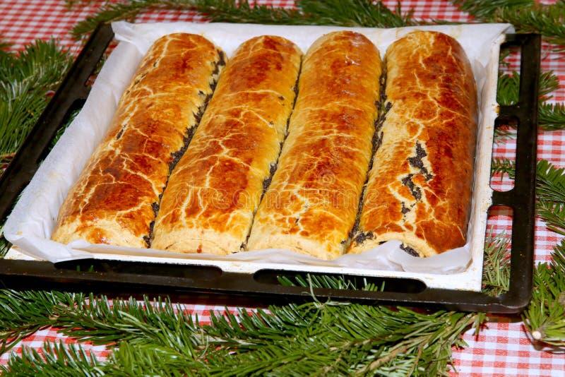 Венгр свернул beigli или bejgli торта рождества aka стоковое изображение