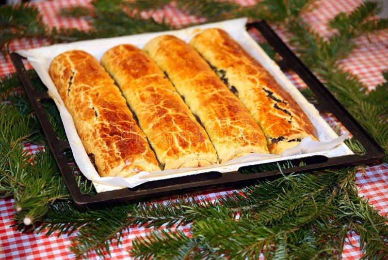 Венгр свернул beigli или bejgli торта рождества aka стоковая фотография rf