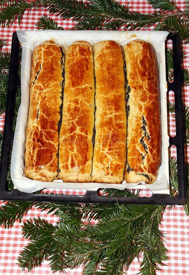 Венгр свернул beigli или bejgli торта рождества aka стоковое изображение rf