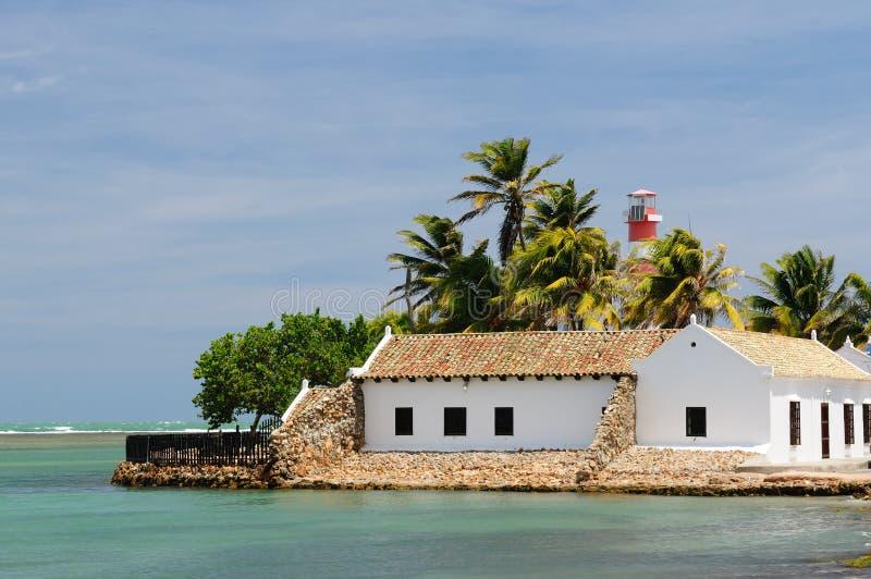 Венесуэла, взгляд на рыбацком поселке Adicora стоковое изображение rf