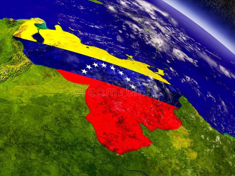 Download Венесуэла с врезанным флагом на земле Иллюстрация штока - иллюстрации насчитывающей топография, венесуэльско: 81805426