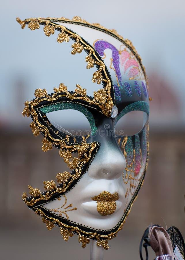 Венецианская изолированная маска, стоковое фото