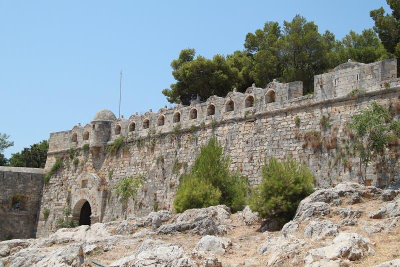 Венецианская крепость Fortezza в Rethymno на Крите, Греции стоковая фотография