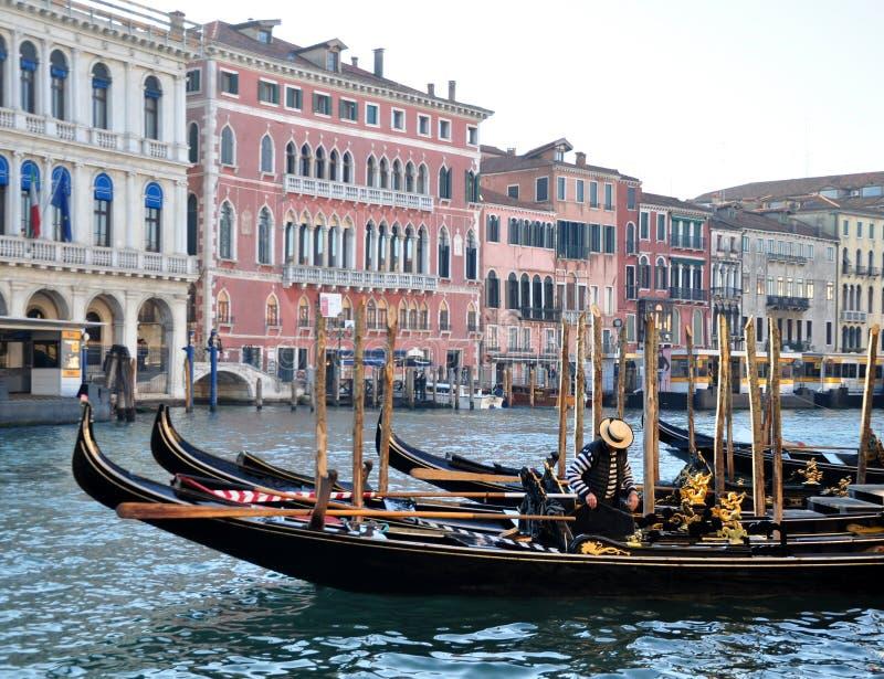 Венецианские гондолы стоковая фотография