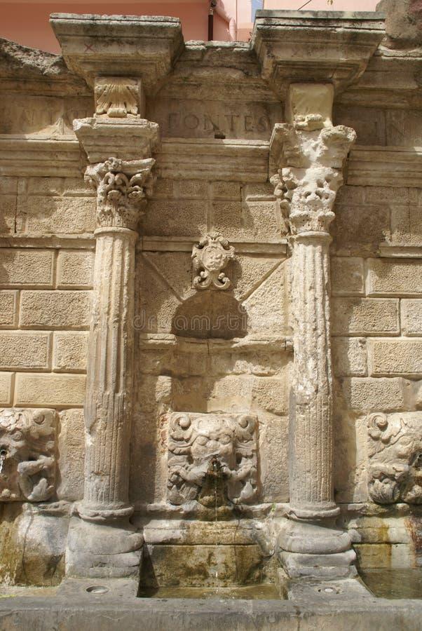 Венецианский фонтан на Крите стоковое изображение rf
