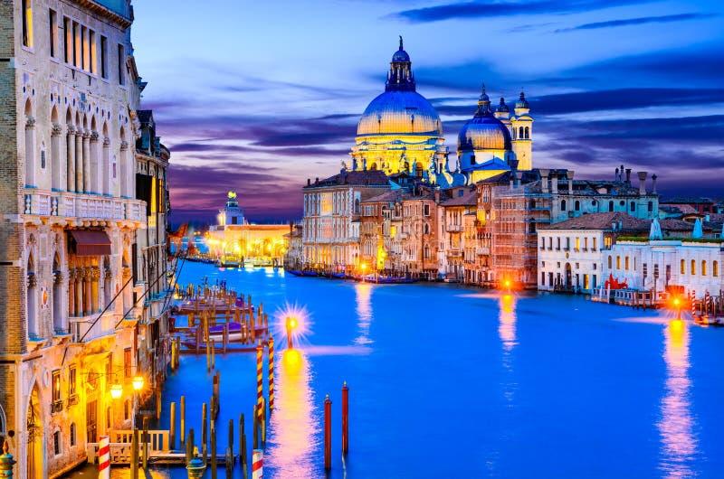 Венеция, грандиозный канал, Италия стоковая фотография rf