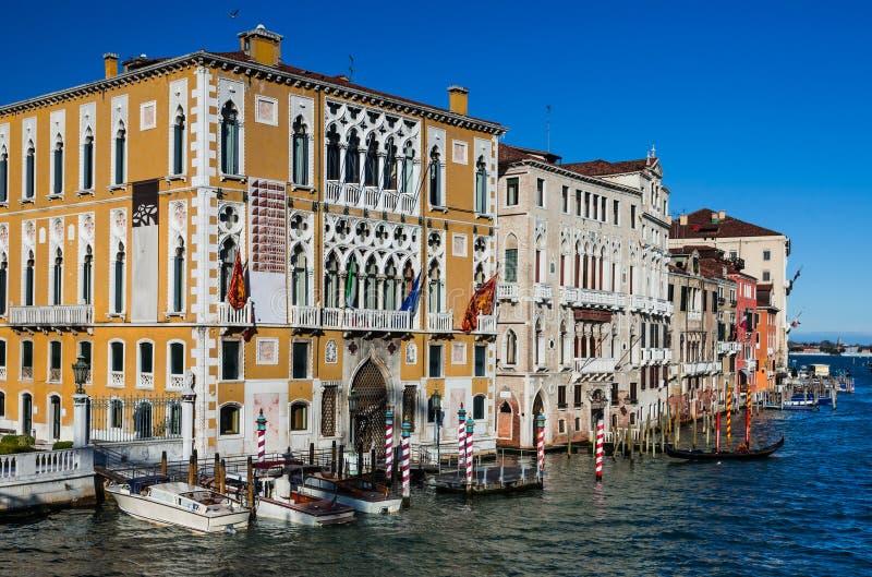 Венеция, грандиозный канал стоковые фотографии rf