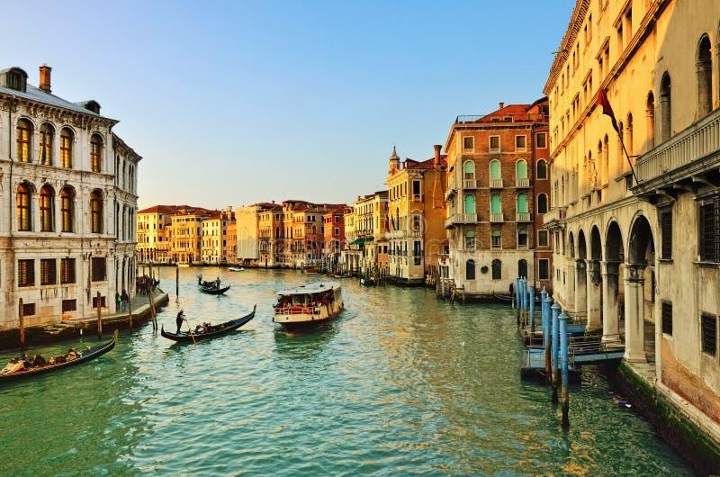 Венеция, грандиозный канал стоковое изображение