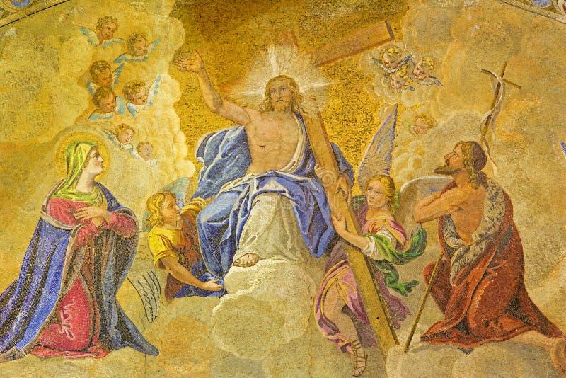 Венеция - Иисус - портал собора St Mark стоковое изображение