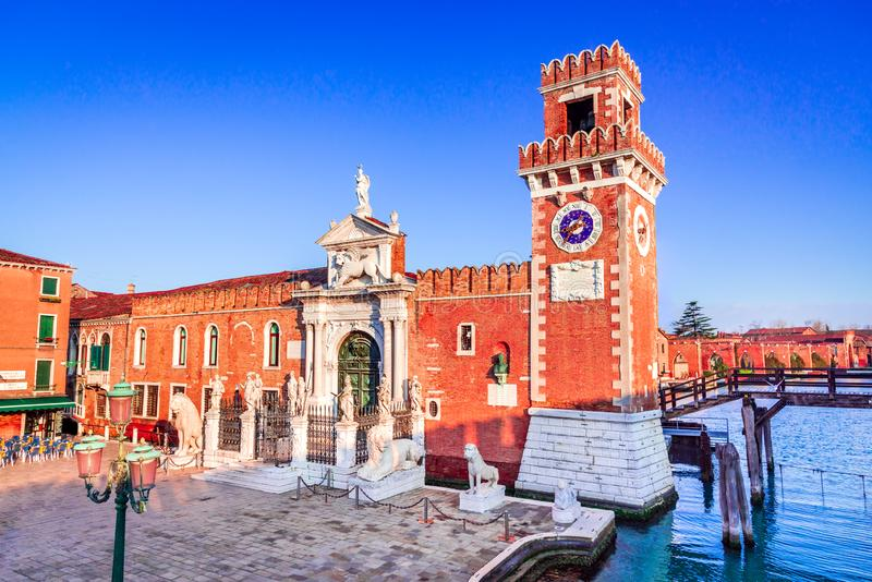 Венеция, Италия - Arsenale стоковое фото rf