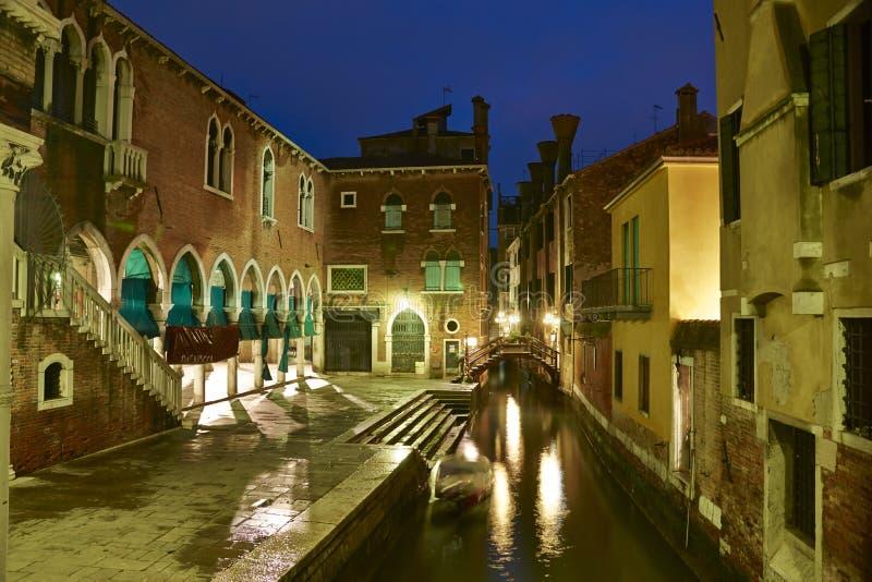 Венеция на ноче стоковая фотография