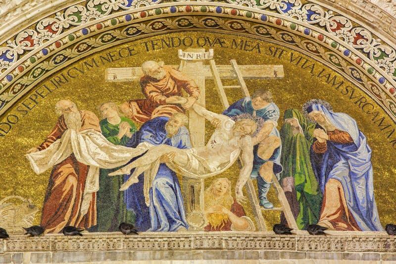 Венеция - низложение взаимной базилики стоковое фото rf