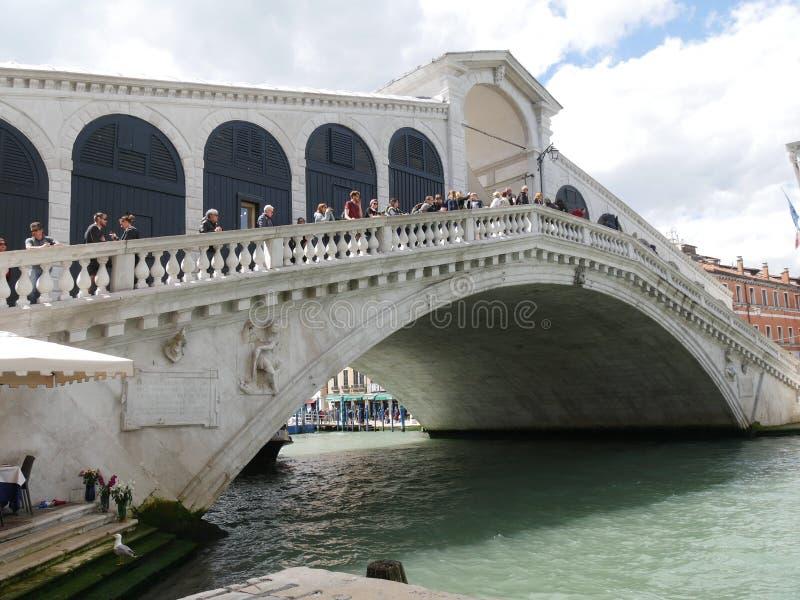 Венеция - панорама моста Rialto стоковая фотография