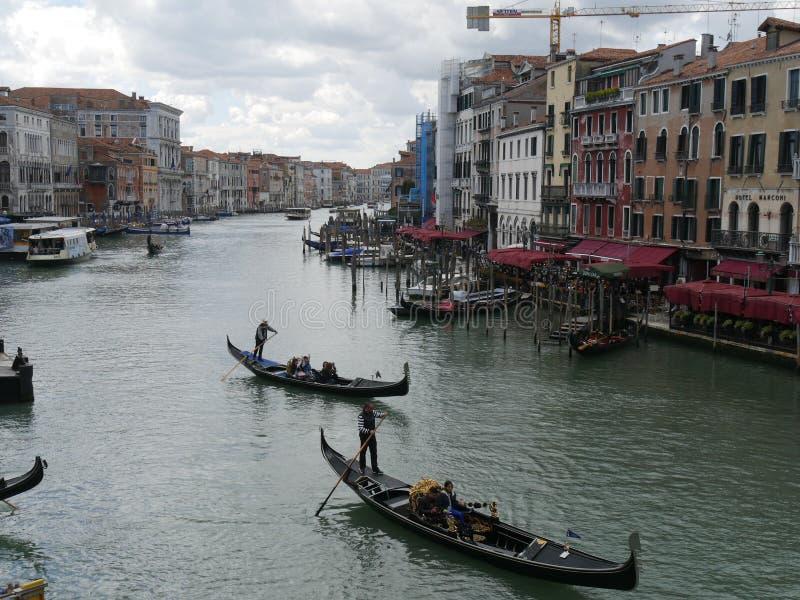 Венеция - панорама моста Rialto стоковые изображения rf