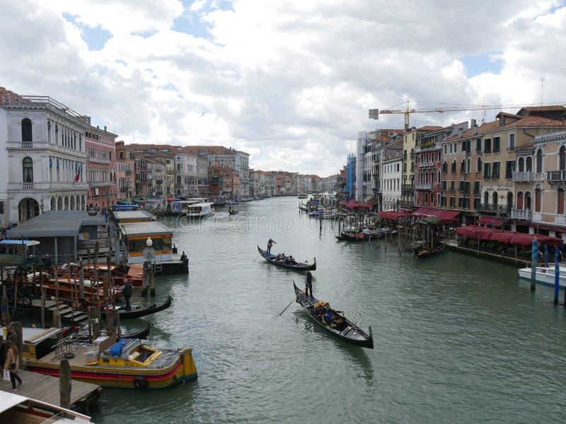 Венеция - панорама моста Rialto стоковое изображение