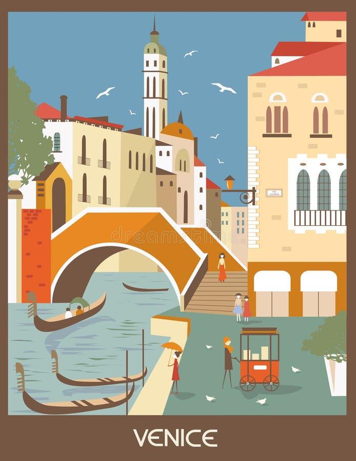Венеция иллюстрация вектора