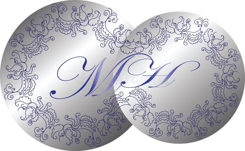 Вензель свадьбы Иллюстрация вектора винтажного вензеля иллюстрация вектора