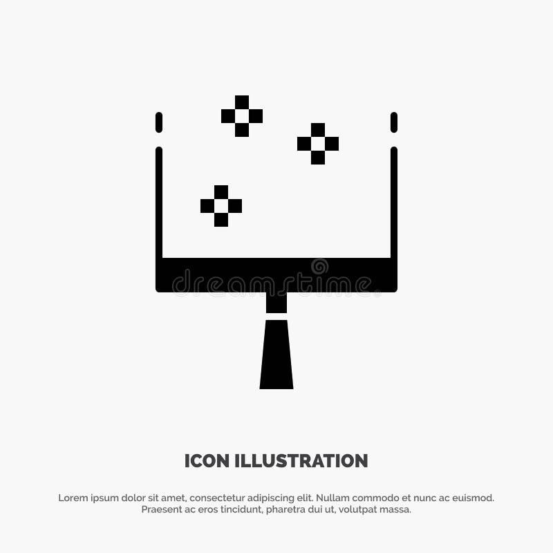 Веник, Dustpan, вектор значка глифа стреловидности твердый бесплатная иллюстрация
