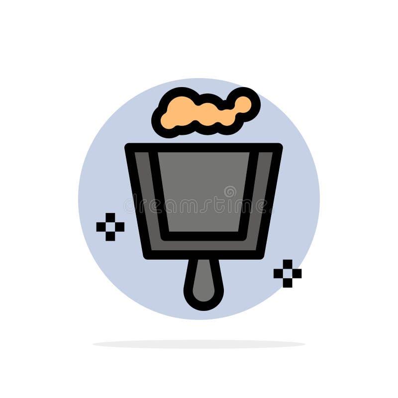 Веник, Dustpan, значок цвета предпосылки круга конспекта стреловидности плоский бесплатная иллюстрация