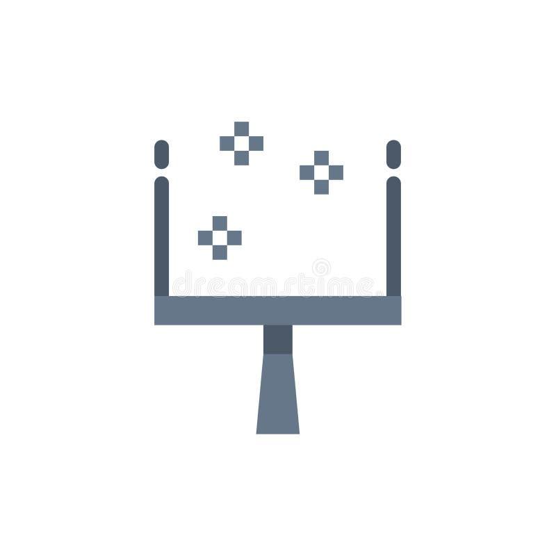 Веник, Dustpan, значок цвета стреловидности плоский Шаблон знамени значка вектора бесплатная иллюстрация