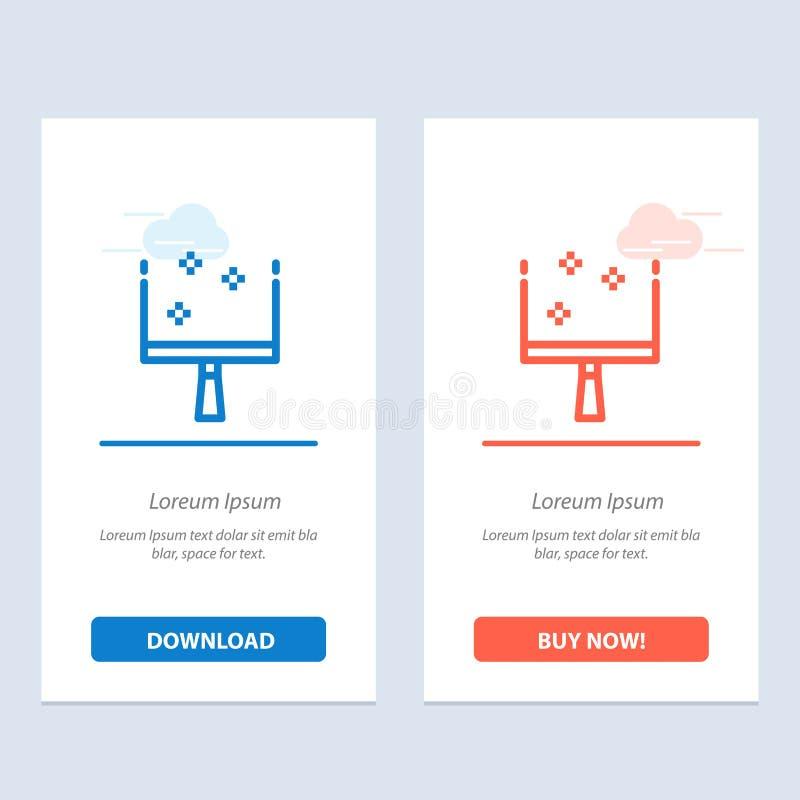 Веник, Dustpan, синь стреловидности и красная загрузка и купить теперь шаблон карты приспособления сети бесплатная иллюстрация