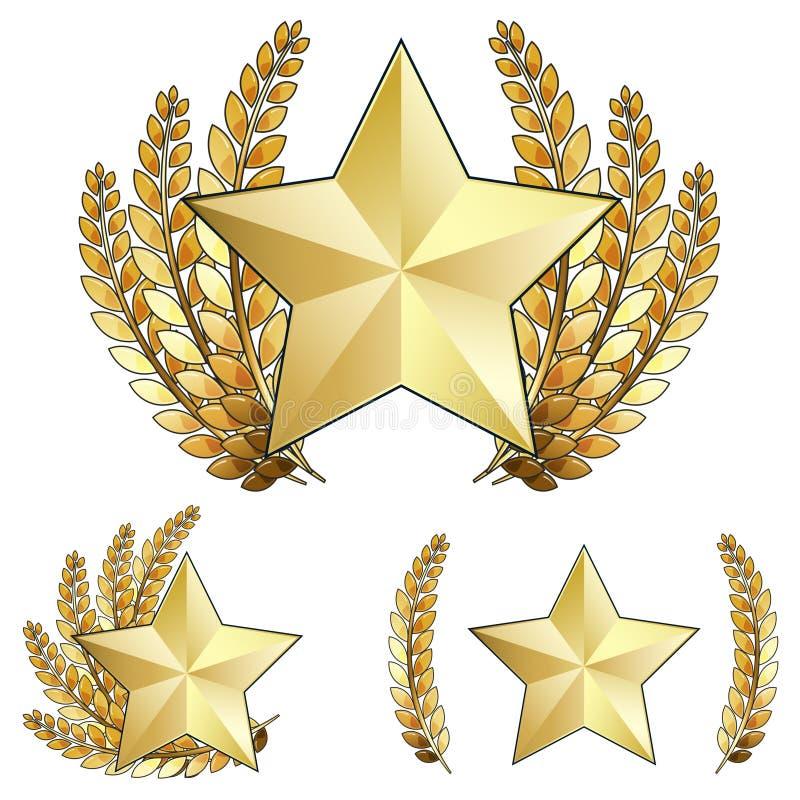 венок звезды лавра золота пожалования иллюстрация штока